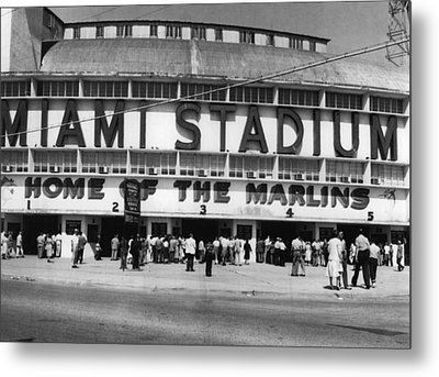 Outside Of Miami Stadium Metal Print by Retro Images Archive