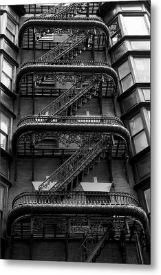 Outside Stairs Metal Print by Dorin Adrian Berbier