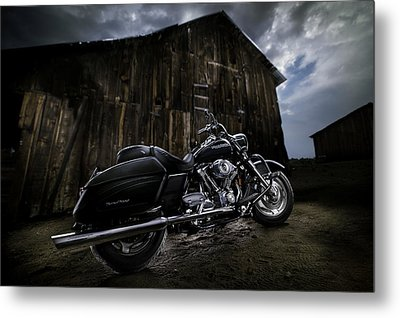 Outside The Barn Metal Print by Yo Pedro
