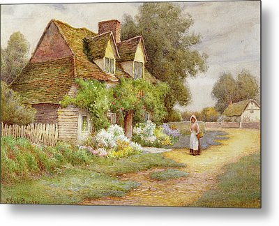 Outside The Cottage  Metal Print