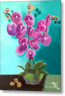 Outstanding Orchids Metal Print