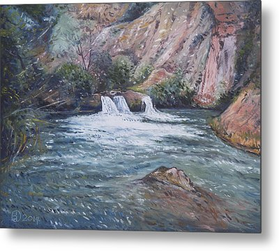 Ouzoud Waterfalls Tanaghmeilt Morocco Metal Print by Enver Larney