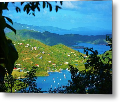 Over Coral Bay Metal Print