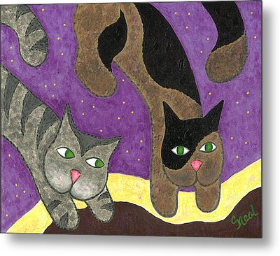 Over Cover Cats Metal Print
