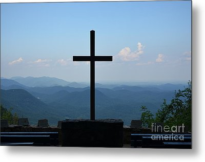 Metal Print featuring the photograph Over Looking His Creation by Bob Sample
