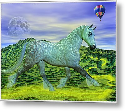 Over Oz's Rainbow Metal Print