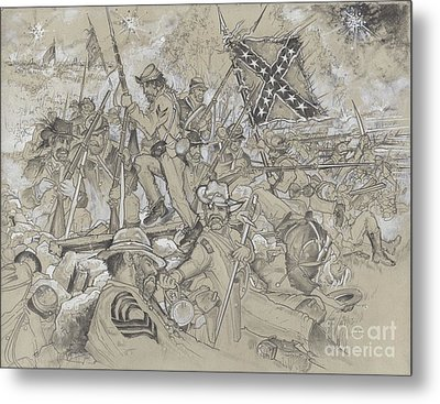Over The Angle Metal Print by Scott and Dixie Wiley