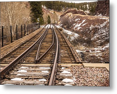 Over The Bridge Around The Bend Metal Print