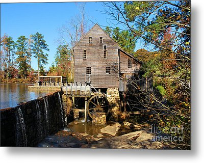 Metal Print featuring the photograph Over The Dam At Yates Mill by Bob Sample