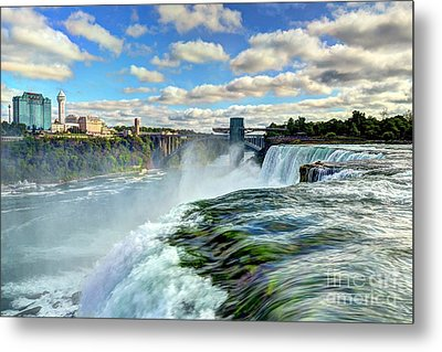 Over The Edge 1 Metal Print by Mel Steinhauer