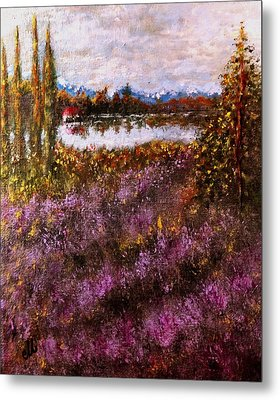 Over The Lavender Field.. Metal Print by Cristina Mihailescu