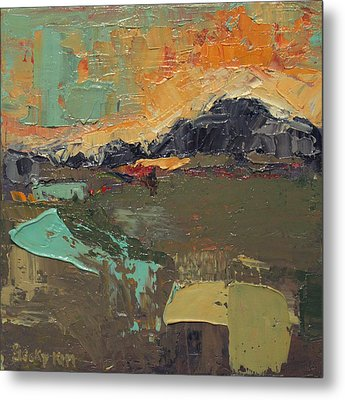 Over The Mountain Metal Print by Becky Kim