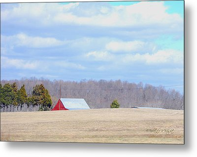 Over The Rise - Kentucky Metal Print by Paulette B Wright