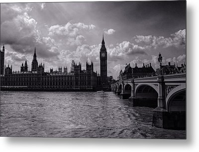 Over Westminster Bridge Metal Print by Nicky Jameson