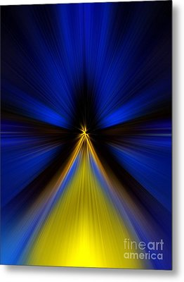 Over Yellow Metal Print