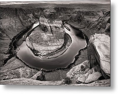 Overcast At Horseshoe Bend Metal Print