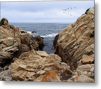 Overcast Day At Pebble Beach Metal Print by Glenn McCarthy Art and Photography