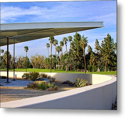 Overhang Palm Springs Tram Station Metal Print by William Dey