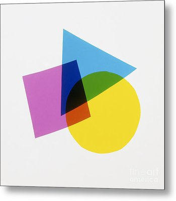 Overlapping Shapes Metal Print by Dave King Dorling Kindersley Science Museum London