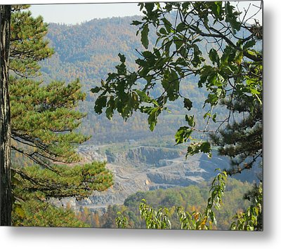 Overlooking An Old Quarry Metal Print by Sarah Manspile
