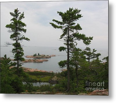 Metal Print featuring the photograph Overlooking Georgian Bay by Nina Silver