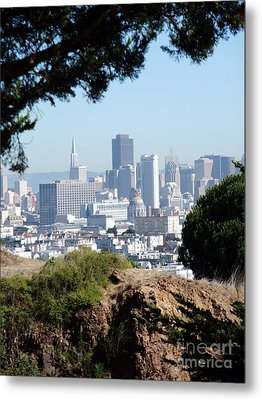 Overlooking The City By The Bay San Francisco  Metal Print by Jim Fitzpatrick