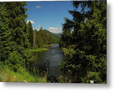 Overlooking The Lochsa River In Idaho Metal Print by Larry Moloney