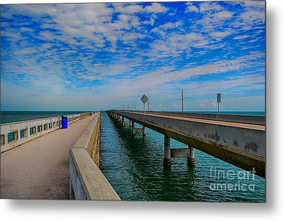 Overseas Highway Florida Keys Metal Print by Chris Thaxter