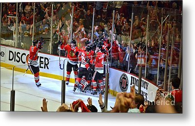 Metal Print featuring the photograph Overtime Game Winner by Melissa Goodrich