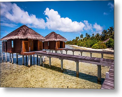 Overwater Spa Villas. Maldives Metal Print by Jenny Rainbow