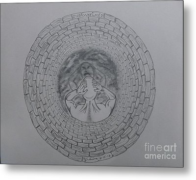 Overwhelmed With Description Metal Print