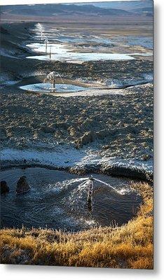 Owens Lake Re-irrigation Metal Print