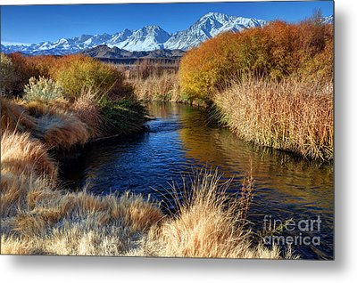 Owens River And Eastern Sierra Nevada Mountains Metal Print by Gary Whitton