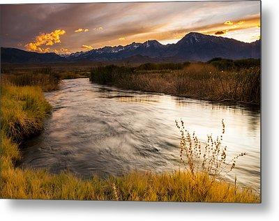 Owens River Sunset Metal Print by Joe Doherty