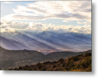 Owens Valley Sunset Metal Print