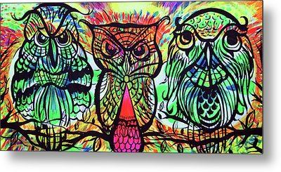 Owl B Watching Metal Print