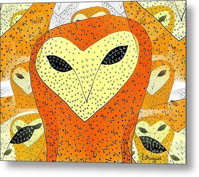owl Metal Print by Barbara Moignard