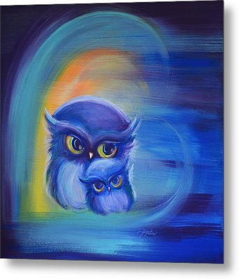 Owl Always Love You Metal Print by Agata Lindquist