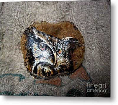 Owl Metal Print by Ildiko Decsei