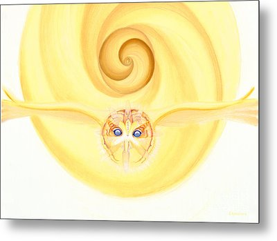 Owl Looking Into The Divine Metal Print