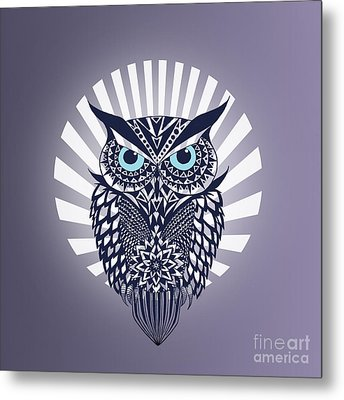 Owl Metal Print by Mark Ashkenazi