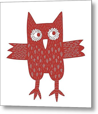 Owl Metal Print by Nic Squirrell