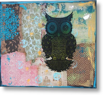 Owl Of Style Metal Print by Kyle Wood