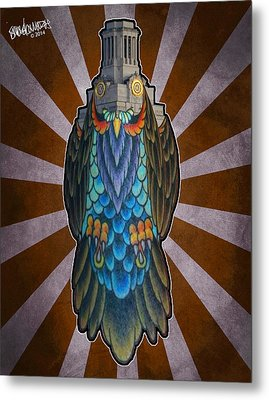Owl Of The Tower Metal Print by Ismael Cavazos