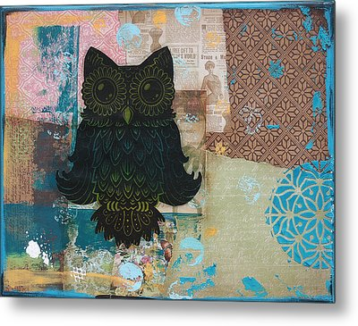 Owl Of Wisdom Metal Print by Kyle Wood