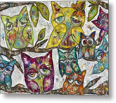 Owl Together Metal Print