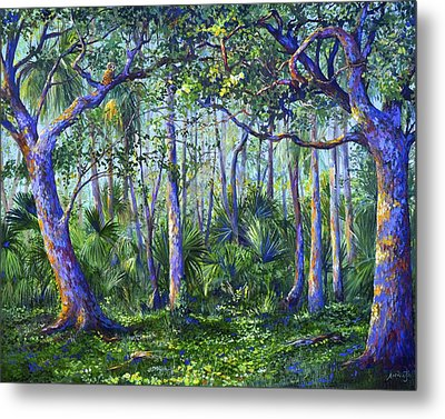 Owl Woods Metal Print by AnnaJo Vahle