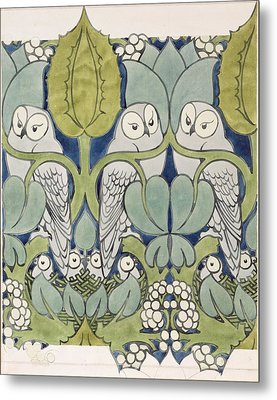 Owls, 1913 Metal Print by Charles Francis Annesley Voysey