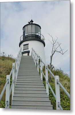 Owls Head Lighthouse Metal Print by Jean Goodwin Brooks