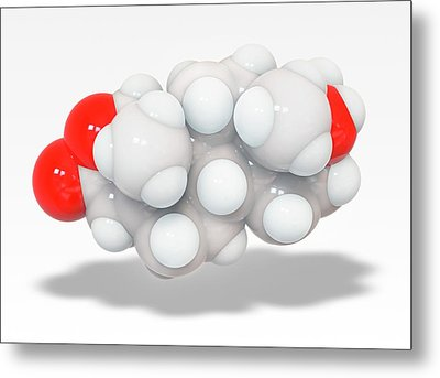 Oxandrolone Anabolic Steroid Molecule Metal Print